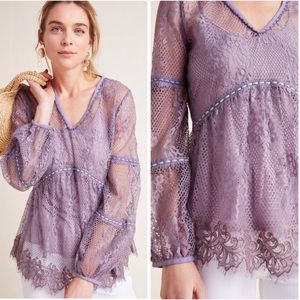 Bl-nk Alice Floral Lace Top NWT Size Large